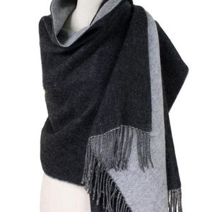 Double Side Brushed Shawl Scarf     Fall Wint